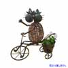 アイアン製・アニマルポット 三輪車と猫 (TY-85672)