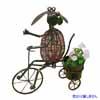 アイアン製・アニマルポット 三輪車と犬 (TY-85673)
