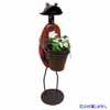 アイアン製・アニマルポット 鉢をもつ蛙 (TY-85680)