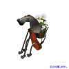 アイアン製・アニマルポット 座っている犬 (TY-85682)