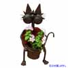 アイアン製・アニマルポット 猫 (TY-85684)