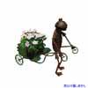 アイアン製・アニマルオブジェ カートと蛙 (TY-86100)