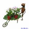 アイアン製・アニマルオブジェ 一輪車とカエル (TY-86101)
