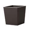 上質レザー植木鉢カバー Lサイズ 40cm (ダークブラウン) (10号用) (Cd-Le1-L-Db)