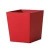 上質レザー植木鉢カバー Lサイズ 40cm (ロッソ) (10号用) (Cd-Le1-L-Rd)