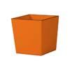 上質レザー植木鉢カバー Mサイズ 31cm (オレンジ) (8号用) (Cd-Le1-M-Or)