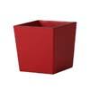 上質レザー植木鉢カバー Mサイズ 31cm (ロッソ) (8号用) (Cd-Le1-M-Rd)