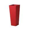 上質レザー植木鉢カバー MHサイズ 31cm (ロッソ) (8号用) (Cd-Le1-MH-Rd)