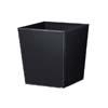 上質レザー植木鉢カバー Lサイズ 40cm (ハードブラック) (10号用) (Cd-Le2-L-Bk)