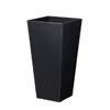 上質レザー植木鉢カバー LHサイズ 40cm (ハードブラック) (10号用) (Cd-Le2-LH-Bk)