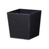 上質レザー植木鉢カバー Mサイズ 31cm (ハードブラック) (8号用) (Cd-Le2-M-Bk)