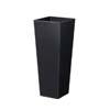 上質レザー植木鉢カバー MHサイズ 31cm (ハードブラック) (8号用) (Cd-Le2-MH-Bk)