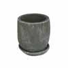 プレーン・ラウンド 11cm (受け皿付) (ブラック) (CP-HY1101B)