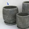 プレーン・ラウンド 20cm (受け皿付) (ブラック) (CP-HY1104B)