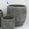 プレーン・ラウンド 25cm (受け皿付) (ブラック) (CP-HY1106B)