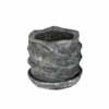 ウェーブラウンド 12cm (受け皿付) (ブラック) (CP-HY1651SB)