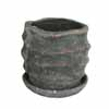 ウェーブラウンド 19cm (受け皿付) (ブラック) (CP-HY1652B)