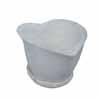 ハート・ポット 13.5cm (受け皿付) (ホワイト) (CP-JS1552RD)
