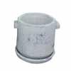 ミニポット 11cm (受け皿付) (ホワイト) (CP-JS2579RD)