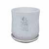 ラウンド・ポット 14.5cm (受け皿付) (ホワイト) (CP-JS8087M-RD)