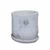 ラウンド・ポット 12.5cm (受け皿付) (ホワイト) (CP-JS8087S-RD)