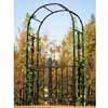 アイアン製・ガーデンアーチ (ゲート付き) (ブラック) (TY-85602)