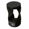 天然無垢の木スツール・スクリューチェア 丸型 (ブラックブラウン) (TY-40651)