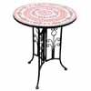 ガーデン・テーブル 60cm (ピンクタイル) (1~2人用)  (TY-85802)