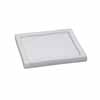 陶器 フチ付き受け皿 角型 ホワイト 20.5cm (TT-HS21)