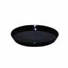 陶器 受け皿 丸型 ブラック 22.5cm (TT-PRBK23)