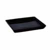 陶器 受け皿 角型 ブラック 20cm (TT-PSBK20)