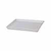 陶器 受け皿 角型 マットホワイト 23cm (TT-PSM23)