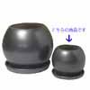 スフェリカル・ブラック S [20cm] [受け皿付] (SS-QV-B2503920BK)
