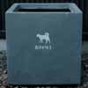プランター葬・ペット供養に・シルエットが選べるメモリアルプランター (ありがとう) (Z-PM02)