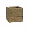 天然木・鉢カバー・キューブ 41cm (ホワイトウォッシュブラウン) (HR-WH02LW)