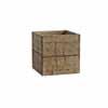 天然木・鉢カバー・キューブ 32cm (ホワイトウォッシュブラウン) (HR-WH02MW)