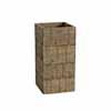 天然木・鉢カバー・スクエア H60cm (ホワイトウォッシュブラウン) (HR-WH04W)