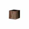 リサイクルウッド・キューブ 24.5cm (樹脂インナー付) (YT-RE-302X24E)
