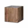リサイクルウッド・キューブ 51cm (ブリキインナー付) (YT-RE-302X51E)