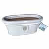 イギリスRHS・プレミアム釉薬鉢・オーバル 31.5cm (ホワイト) (SS-SPK-RH15WM)