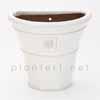 イギリスRHS・プレミアム釉薬鉢・ウォールハンギング H20cm (ホワイト) (SS-SPK-RH27W)