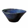 信楽焼 睡蓮鉢 青ガラスひねり水鉢 60cm (SG-SA92-1)
