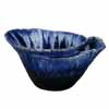 信楽焼 睡蓮鉢 青ガラス小判型水鉢 62cm (SG-SA92-4)