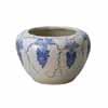 信楽焼 睡蓮鉢 ぶどう絵手びねり水鉢 44cm (SG-SA93-2)