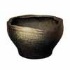 信楽焼 睡蓮鉢 黒釉白窯肌変形水鉢 55.5cm (SG-SA94-3)