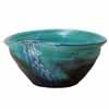 信楽焼 睡蓮鉢 青ガラスたわみ水鉢 56cm (SG-SA96-1)