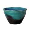 信楽焼 睡蓮鉢 青ガラス花型水鉢 49cm (SG-SA96-2)