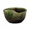 信楽焼 睡蓮鉢 緑ビードロ曲げ水鉢 48.5cm (SG-SA96-3)