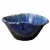 信楽焼 睡蓮鉢 青白流しひねり水鉢 53cm (SG-SA96-5)