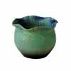 信楽焼 睡蓮鉢 ブルーガラスひねり水鉢 37cm (SG-SA99-6)